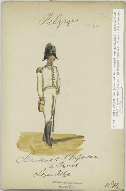 Lieutenant de l'infanterie. 2e régiment, Legion belge