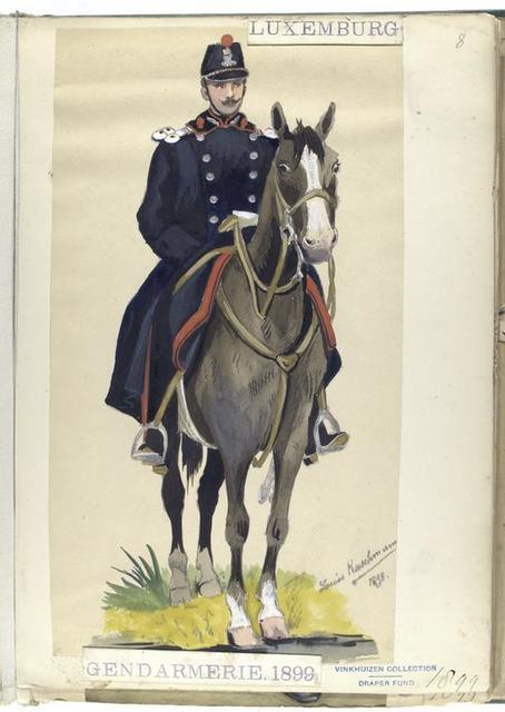 Luxembourg: Gendarmerie, 1899
