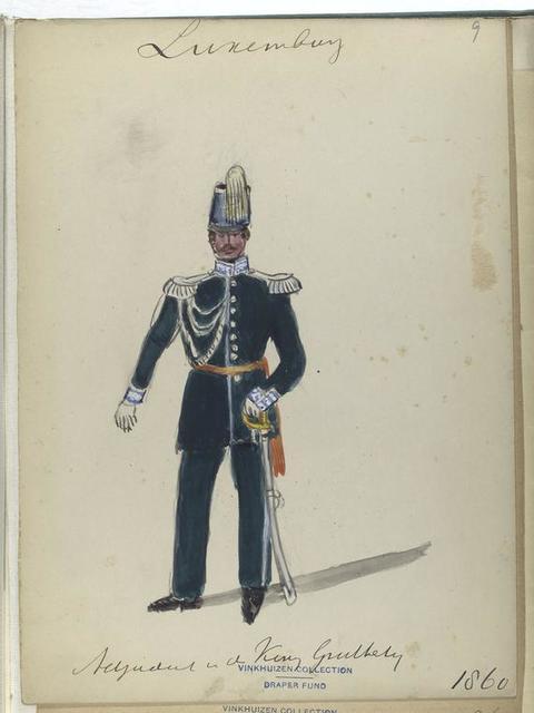 Luxemburg: adjutant v[an] de koning Gr[oo]thertog, 1860