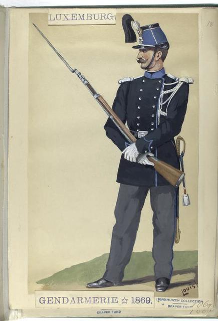 Luxemburg: Gendarmerie, 1869