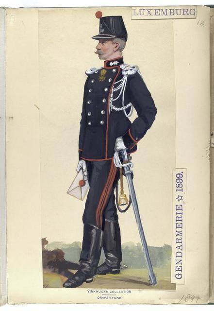 Luxemburg: Gendarmerie, 1899