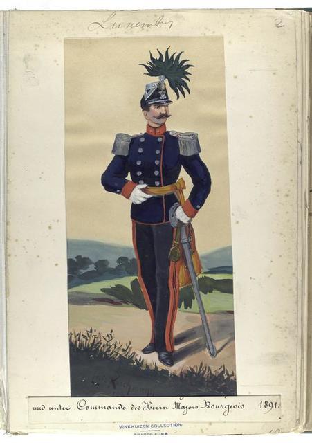 Luxemburg: [...] unter Commando des Herrn Majors Bourgeois, 1891