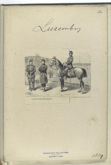 Luxemburgische Gensdarmerie, 1889