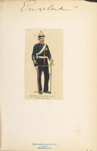 Master Gunner, New South Wales Artillery.