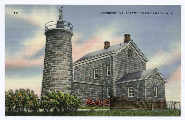 Monument, Mt. Loretto, Staten Island, N.Y.