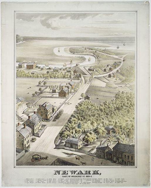 Newark, (east of Mulberry St. 1820-5).