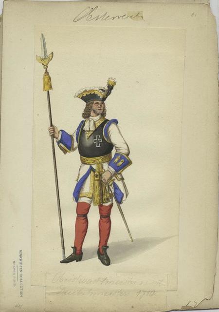 Obristwachtmeister v. Rgt. Deutschmeister, 1710