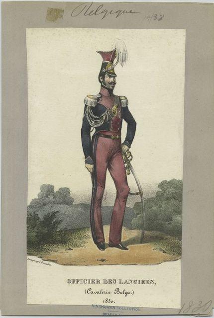 Officer des lancers, (Cavalerie belge.) 1830