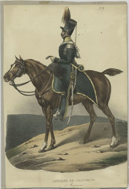 Officier de Chassuers. 1er régiment.