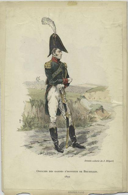 Officier des gardes d'honneur de Bruxelles. 1810