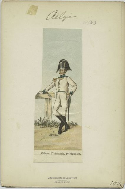 Officier d'infanterie, 1er régiment
