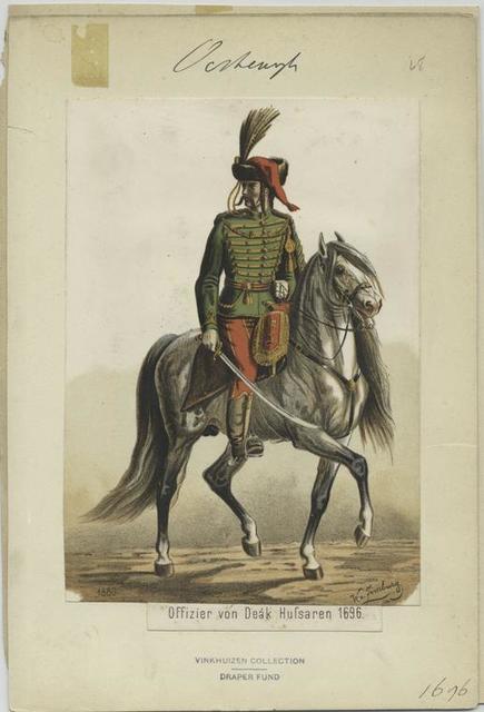 Officier von Deák Hussaren. 1696