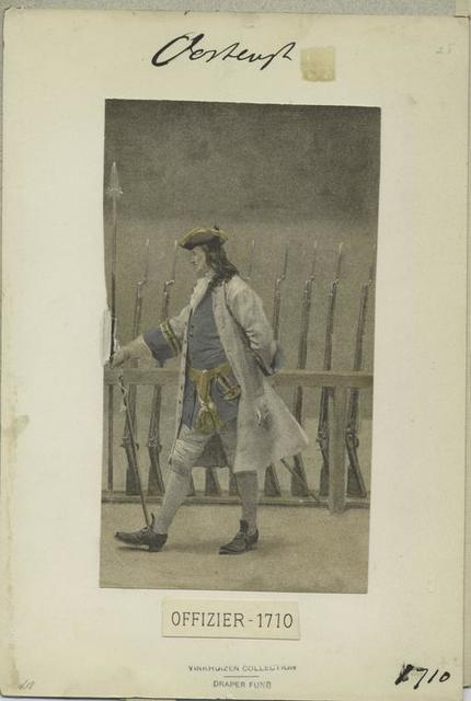 Offizier, 1710