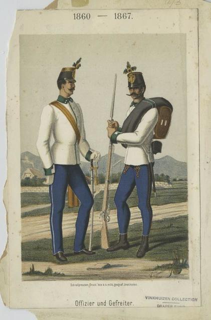 Offizier und Gefreiter. 1860-1867
