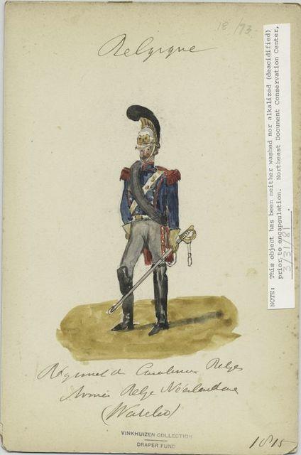 Régiment de Carabinier belges. Armée belgo-nederlands (Waterloo)