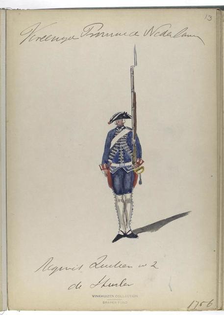 Regiment Zwitserse no. 2 de Sturler. 1756