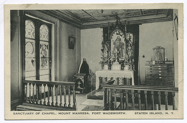 Sanctuary of Chapel, Mount Manresa, Fort Wadsworth, Staten Island, N.Y.