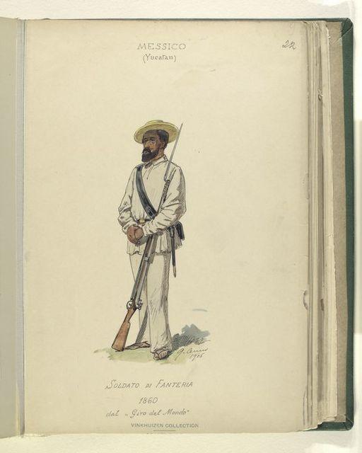 """Soldato di Fanteria. 1860. dal """"Giro del mondo."""""""