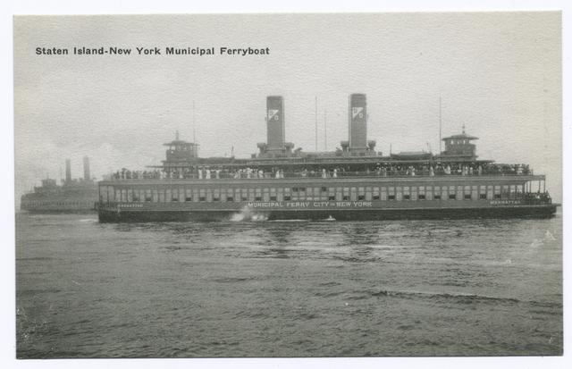 Staten Island-New York Municipal Ferryboat [ferry on water]