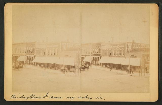 [Street view of Salina, including drug store.]
