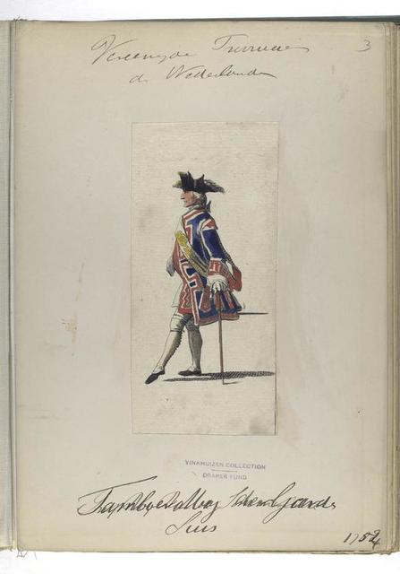 Tamboer-majoor der Gardes Suis [?].  1754