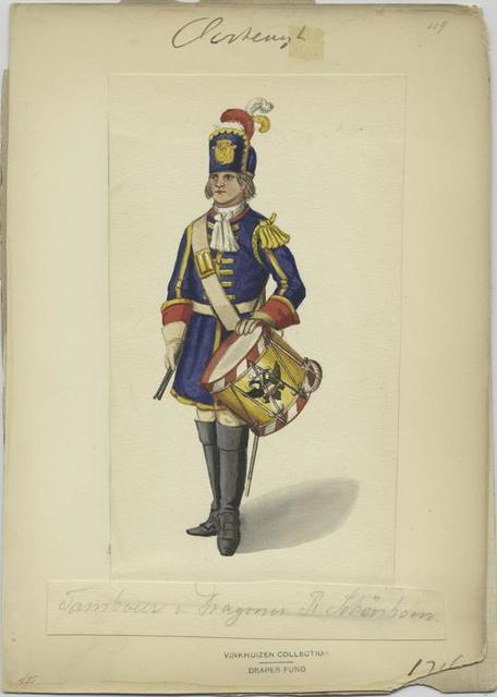 Tambour v. Dragoner R. Schönborn 1716