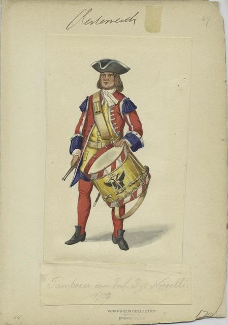 Tambour von Inf. Rgt. Nigrelli, 1709