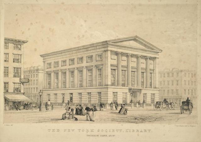 The New York Society Library. Frederick Diaper archt.