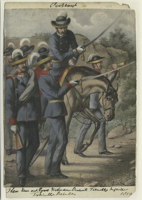 Them Kum und Kihendar Distant Freiwillige Infanter Freiwillige Batallion, 1859 [???]