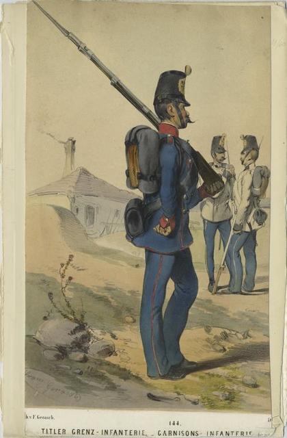 Titler Grenz-Infanterie. Garnisons-Infanterie.
