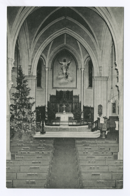 Trinity Lutheran Church, Staten Island, N.Y.  [int. view of altar]