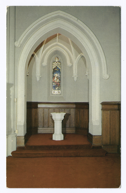 Trinity Lutheran Church, Staten Island,  N.Y.  [view of Baptismal Font]