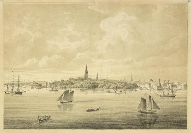 View of New York from the south east.