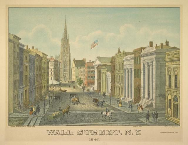 Wall Street, N.Y. 1847