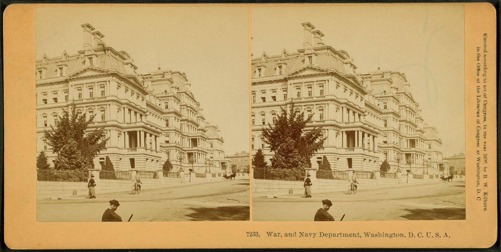 War and Navy Department, Washington, D.C., U.S.A..