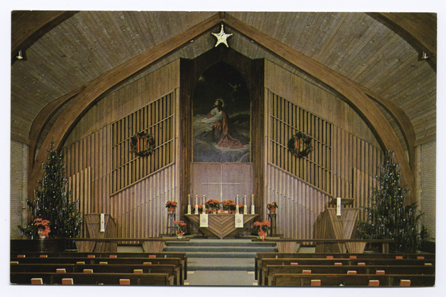 Zion Lutheran Church, [int. view of altar]