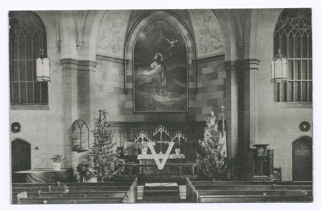 Zion Lutheran Church, Port Richmond, [int. view of altar]
