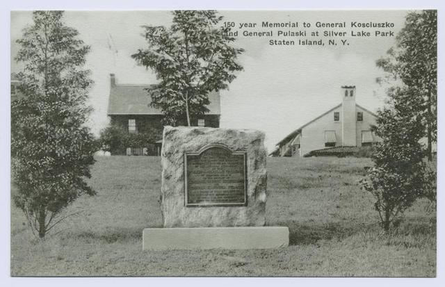 150 year Memorial to General Kosciuszko and General Pulaski at Silver Lake Park Staten Island, N.Y.