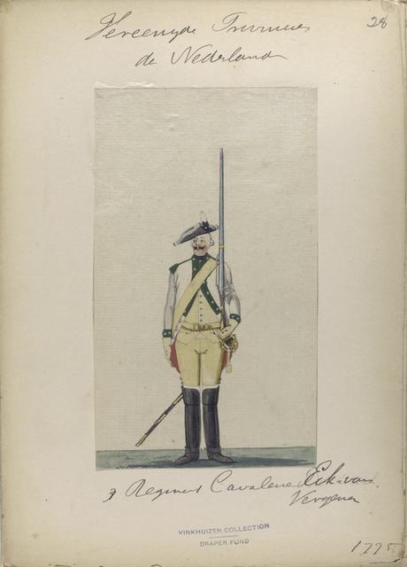 3 Regiment Cavalerie Eck van Nergena. 1775