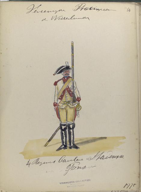 4 Regiment Cavalerie Stavenisse Pous. 1775