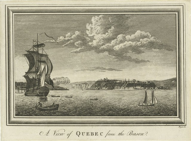 A view of Quebec from the Bason.