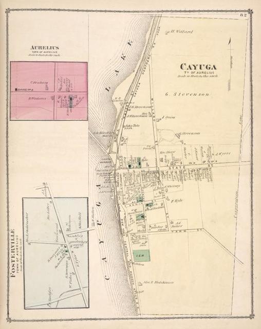 Aurelius [Village]; Fosterville [Village]; Cayuga [Township]