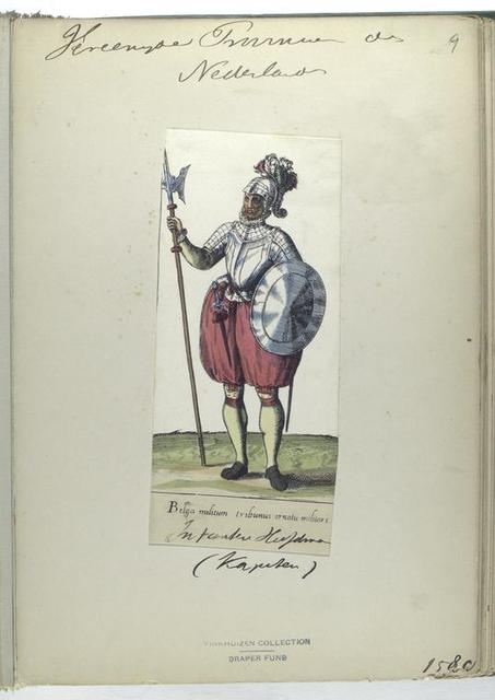 Belga militum tribunus ornatu militare [Vereenigde Provincien der Nederlanden, infanterie kufman [?] (kapiten), 1580]