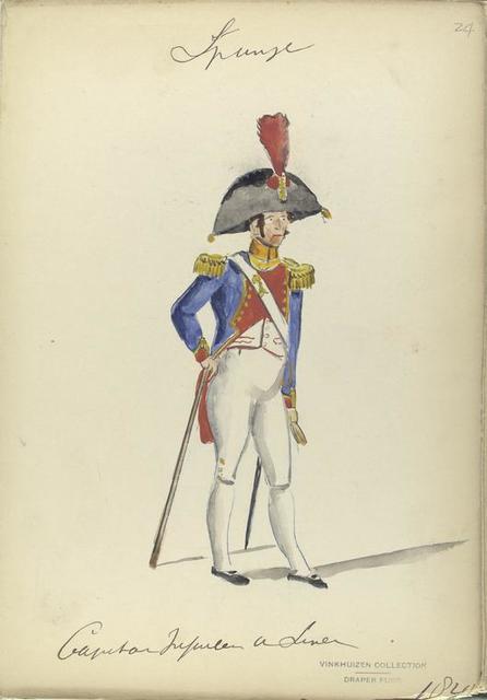 Capitan. Infanteria de linea. 1820