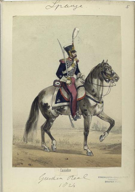 Cazador. Guardia real. 1824