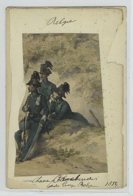 Chasseurs -[],Garde Civique belge.