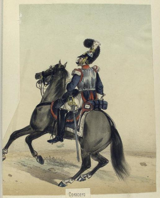 Coracero. Guardia real. 1824