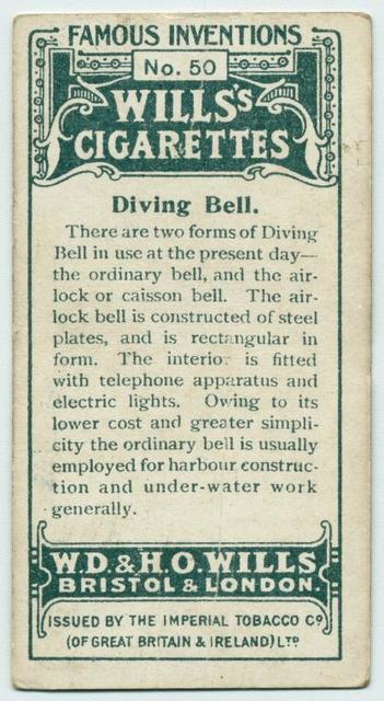 Diving bell.