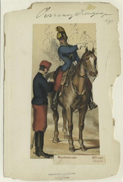 Dragoner: Wachmeister, Officier (in Parade).