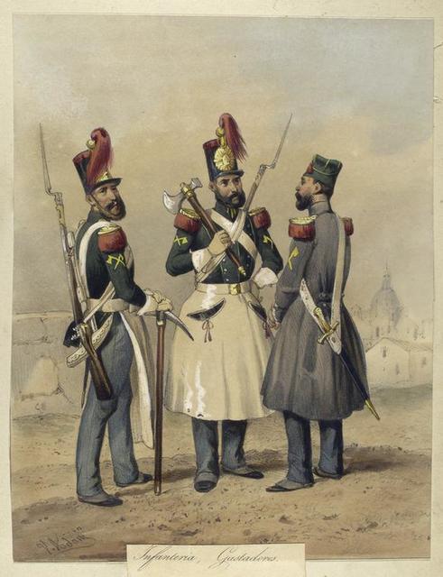 Egercito Español. Infanteria, Gastadores.